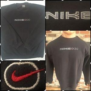 Vtg Nike Air Max Black Crewneck Sweatshirt Large